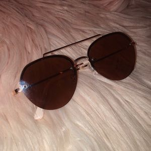 Pink and Rose Gold Sunglasses